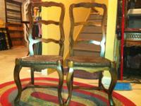 "I have 2 very lovely ladder back chairs - 43"" high -"