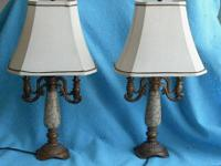 "2 beautiful lamps. High quality. H = 25 1 / / 2"". W ="