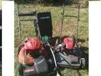 I'm moving and selling my two lawn mowers. The first is