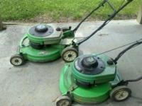 these are ready to mow mowers . one is a 4.0 hp mower.