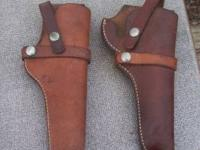 I have these 2 Leather Gun Holsters for sale. They are