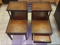 Pair (2) Matching End Tables Imperial Furniture. Solid
