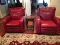 Selling 2 leather recliners- Brand is Barcalounger.