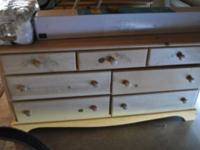2 light pine dresser stamped w/flowers sold pine $150