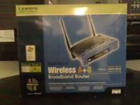 2 Wireless Linksys Routers. The first router I have has