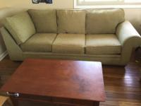 Selling 2 full sized sofas, durable solid wood frame,