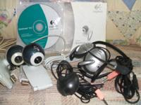 $25 -OBO- set of (2) complete Logitec webcams...    2