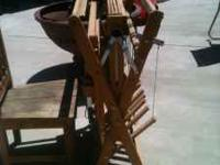 1- Sitting fold away factory made loom in great