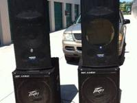 I have 2 Mackie active powered speakers and 2 peavey