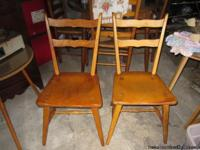I have 2 used Solid maple Chairs for sale.