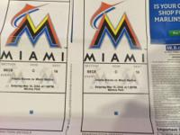2 Marlins tickets plus parking for Saturday May 16,