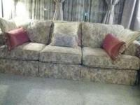 2 Massive matching barely used 7.5 ft 3 cushion couches