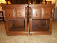 Matching Nightstands in good shape. Measures 2ft. Tall