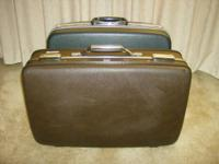 2 medium hardshell suitcases SAMSONITE & American
