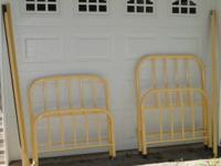 2 Metal Antique Twin Bed Frames with headboard,