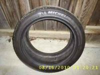 2 michelin 245-40-17 high performance tires with very