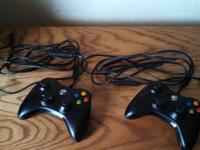 Up for sale are 2 Xbox 360 controllers for COMPUTER or