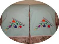 "I have for sale 2 rare, vintage ""Pencale"" pillow cases"