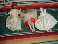2 Mississippi River Mud Dolls, & 1 Pecan Head by