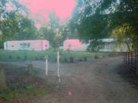 One mobile home with 2 bedrooms and 2 bath with a big