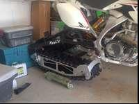 2 Moto snow bike conversion. Great shape. Has the r2