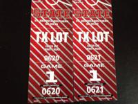 2 Side-by-Side Parking Passes -- TX Lot NC State vs Ga