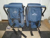 2 NEW 2-in-1 Folding Stool & Hiking Backpacks w/Tags -