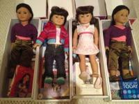 We have 2 new in box American girl dolls along with the