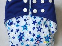 (2) NEW in package *Stars pattern* cloth diapers