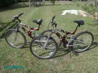 I have 2 like new bikes for sale, beautiful, excellent