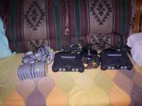 We have two nintendo 64 for sale also 10 games.