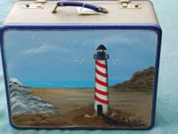 This is 2 of 2 Antique Hand Painted Suitcases we are