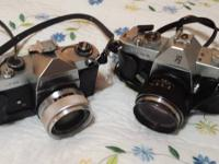 I have 2 old cameras. Both are Yashica brand name. One