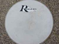 "2 Nice 60's Rogers 20"" coated bass drum heads with"