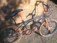2 old school BMX bikes. Both are freestyle versions,