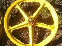 I have a pair of Old Yellow BMX rims, Rear wheel has