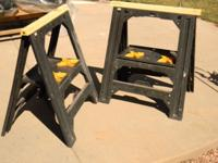 These ZAG twin-pack folding sawhorses are rated for a