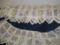 very cute german flower valance 100 x 14 please call
