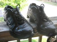 Neighbor is selling 1 pair of Black- Nike-shox size 8,