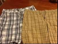 Brand new condition men's cargo shorts. One is white