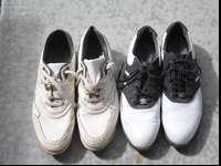 2 pairs of mens golf shoes, 9.5 & 10 M, $10/pairCall