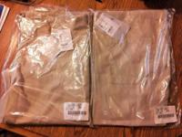 2 pairs of unisex size small scrub pants. Tan/Khaki