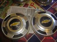 have 2 pan type hubcaps with chevy emblem from the 60,s