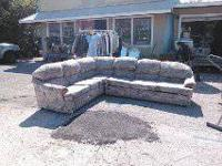 Nice sectional with pull out bed & a recliner. It does