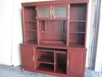 This is a 2 piece cabinet / hutch ready for a new home.