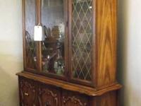 Beautiful two piece china hutch and cabinet on sale for
