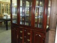 For $140.00 this 2 Piece Darkwood China Cabinet can be