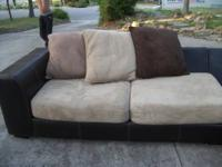 This Gregory sectional sofa has easy care