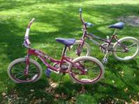 2 Great pink girls bicycles (8 years and up). Stop by