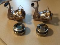 2 Pro Qualifier Bass Pro Spincast Reels with 12 lb.